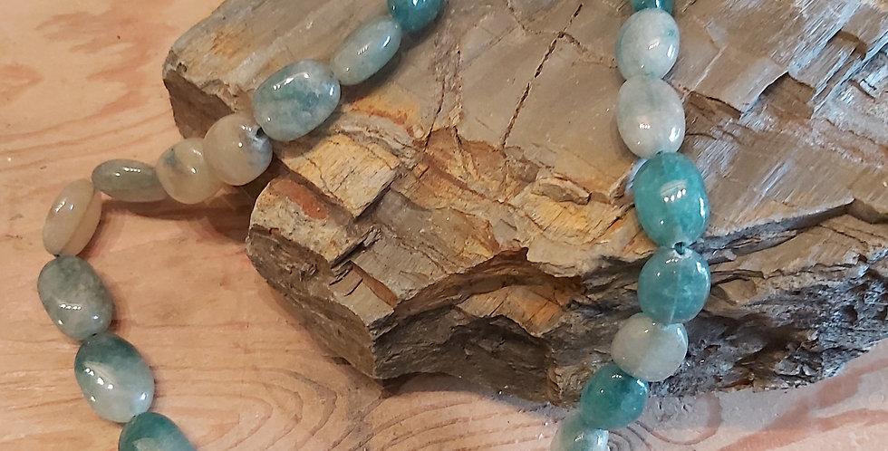 Vintage aventurine oval beads
