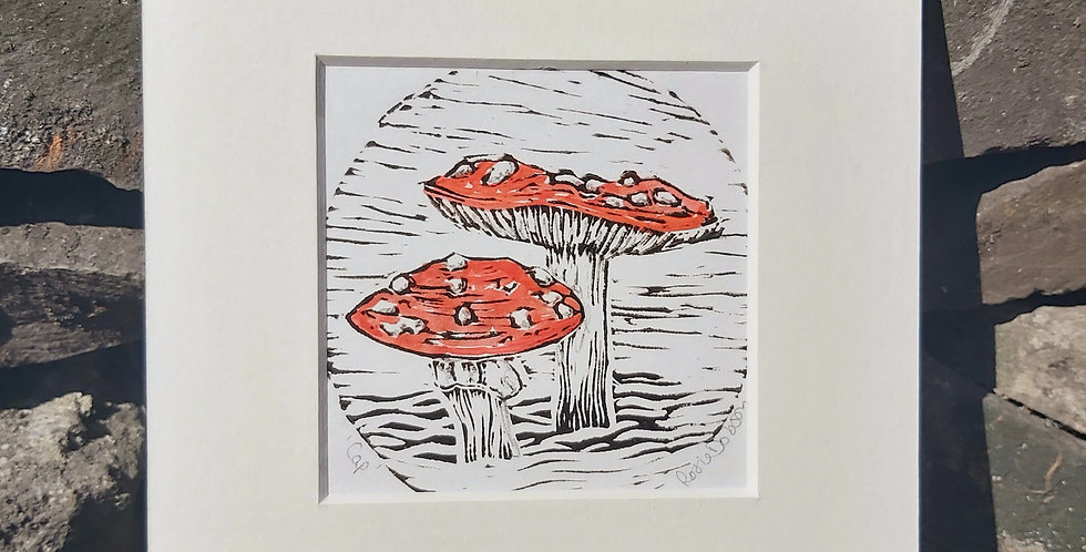 Toadstool - original miniprint