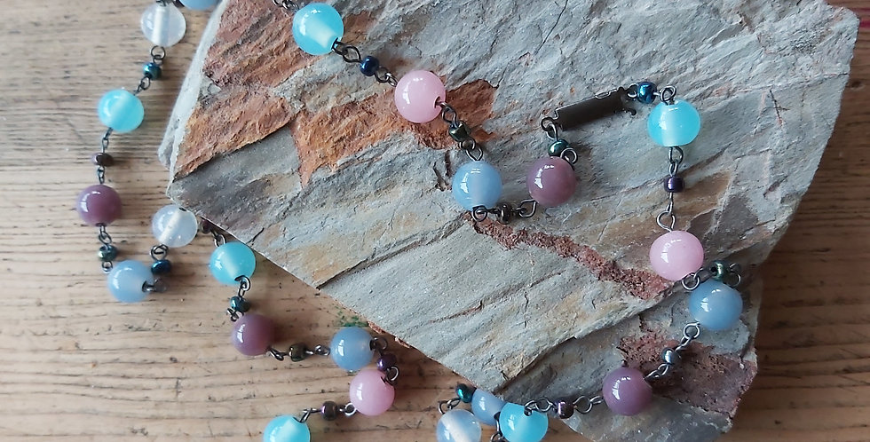 Pretty purple glass beads