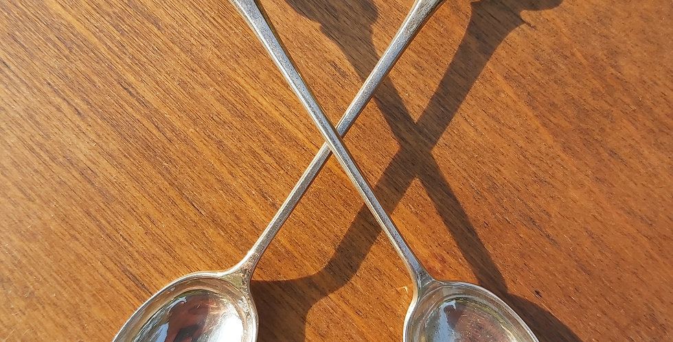 Solid silver thistle finial teaspoon