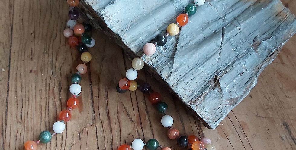 Multi-coloured vintage glass beads