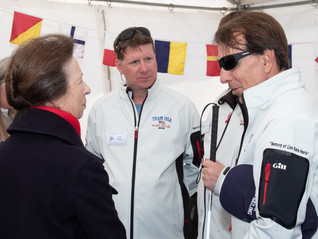 HRH The Princess Royal Visits Day 4 of the Blind Match Racing World Championship 2018.