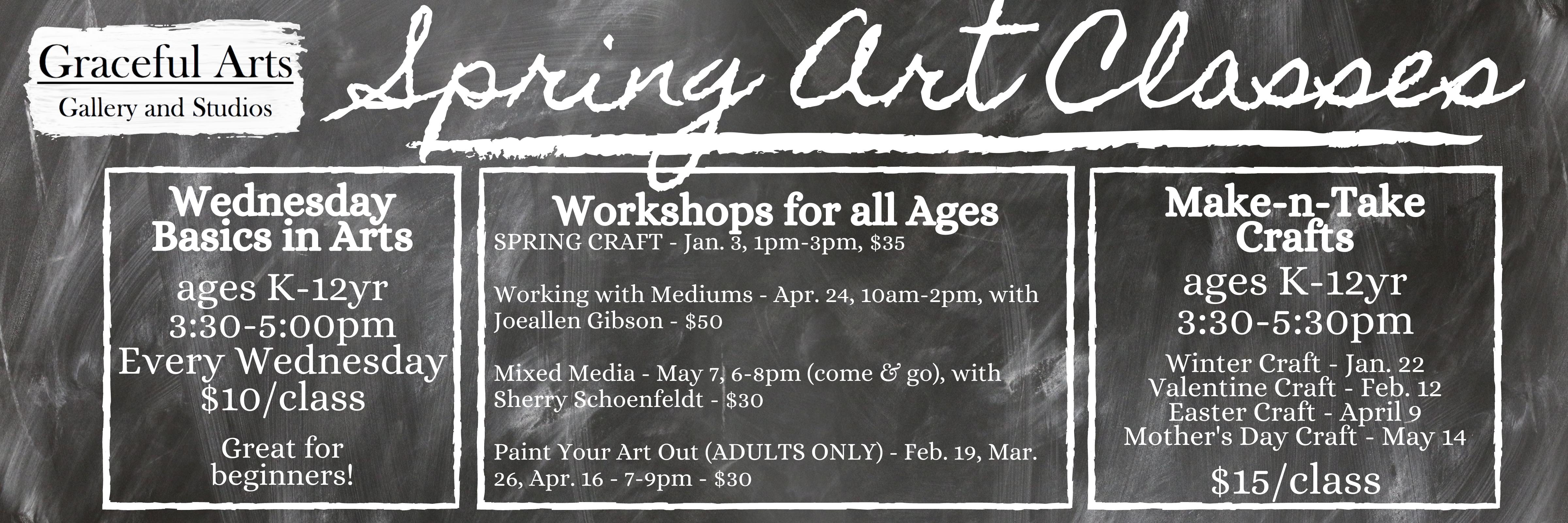 Spring Art Classes