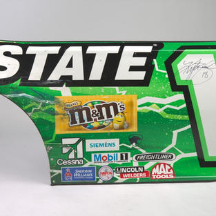 Race Used Sheet Metal Autographed by Kyle Busch