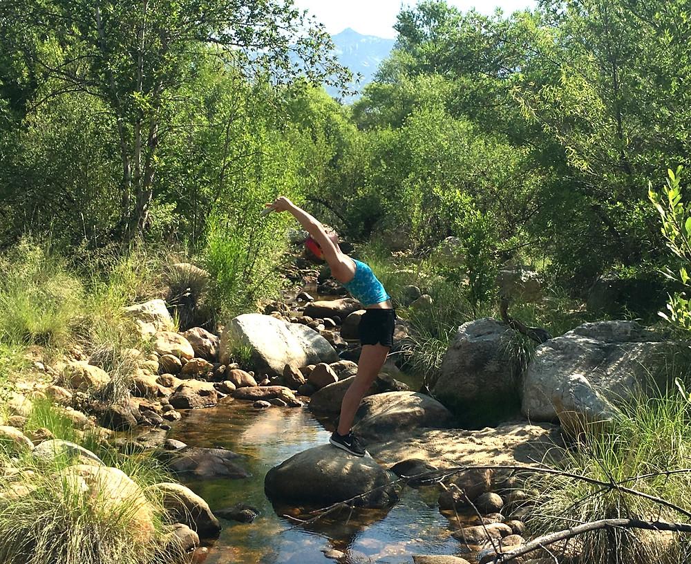 Back bend - Arizona hiking