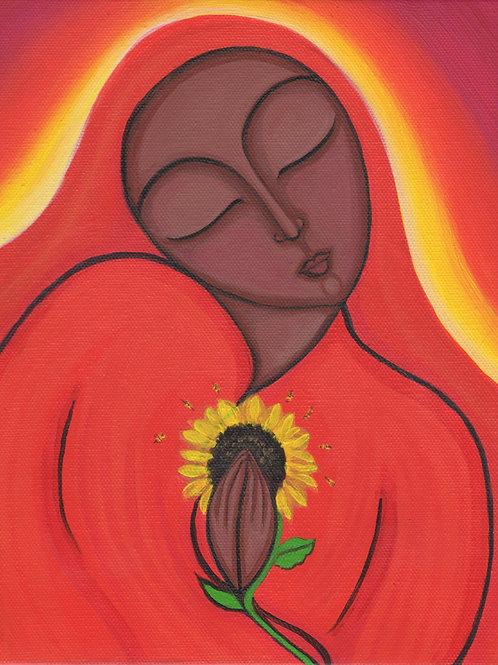 Mary Magdalene Holding a Sunflower