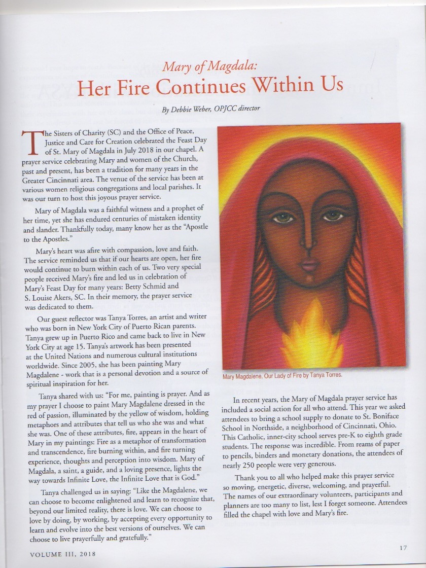 Mary Magdalene, Our Lady of Fire by Tanya Torres