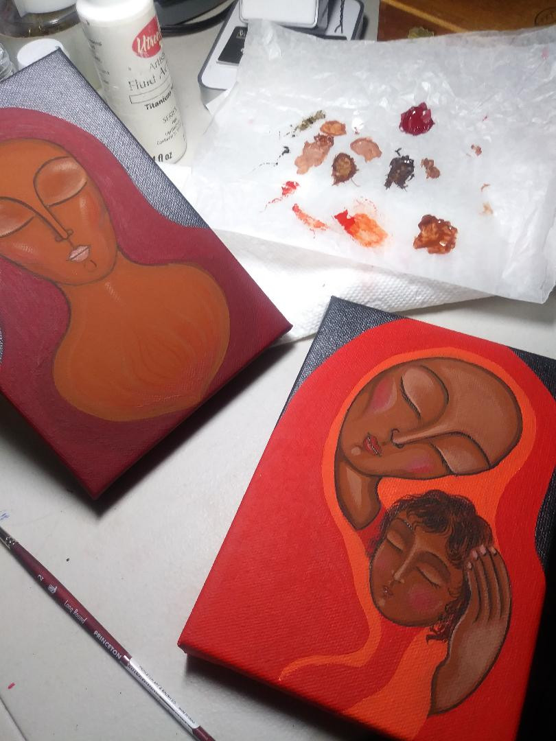 Mary Magdalene paintings in progress