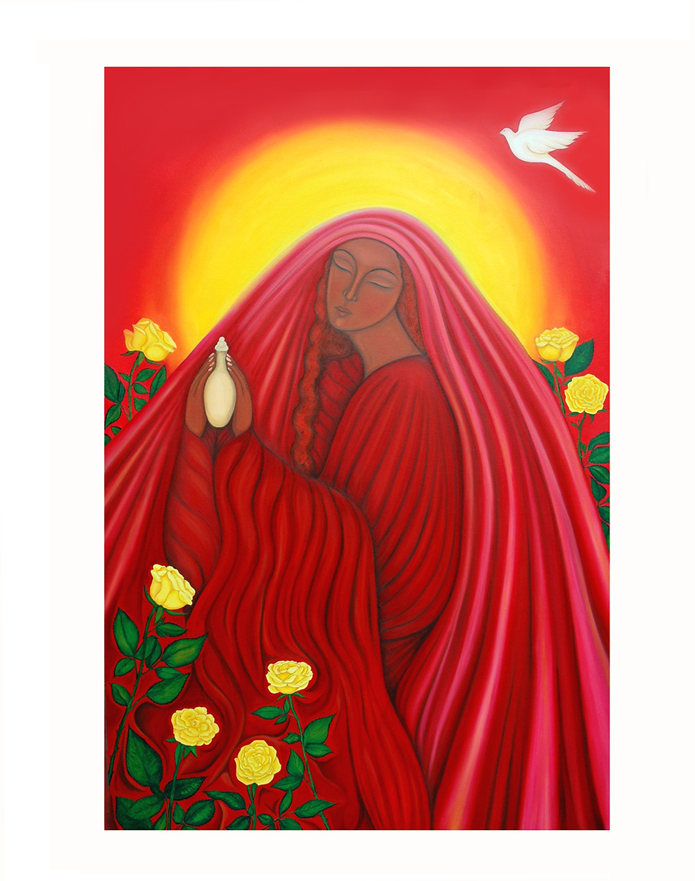 Fragment of Mary Magdalene of the Roses by Tanya Torres