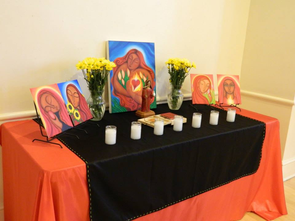 Altar at the Mary Magdalene Celebration