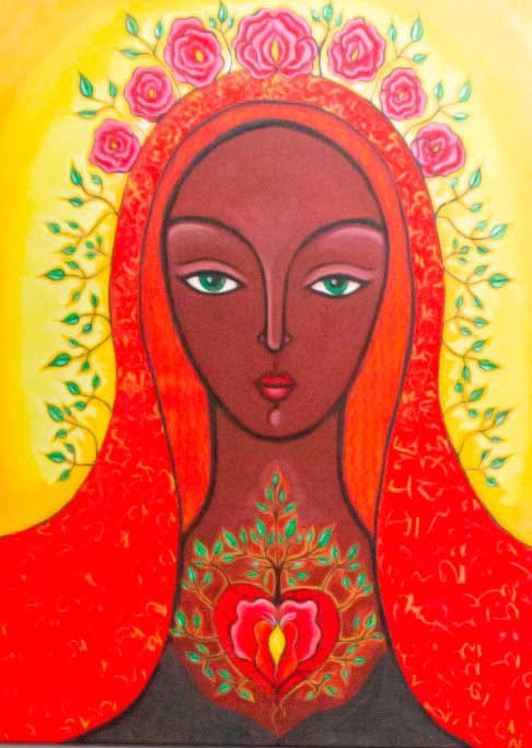 Mary Magdalene of the Growing Heart by Tanya Torres
