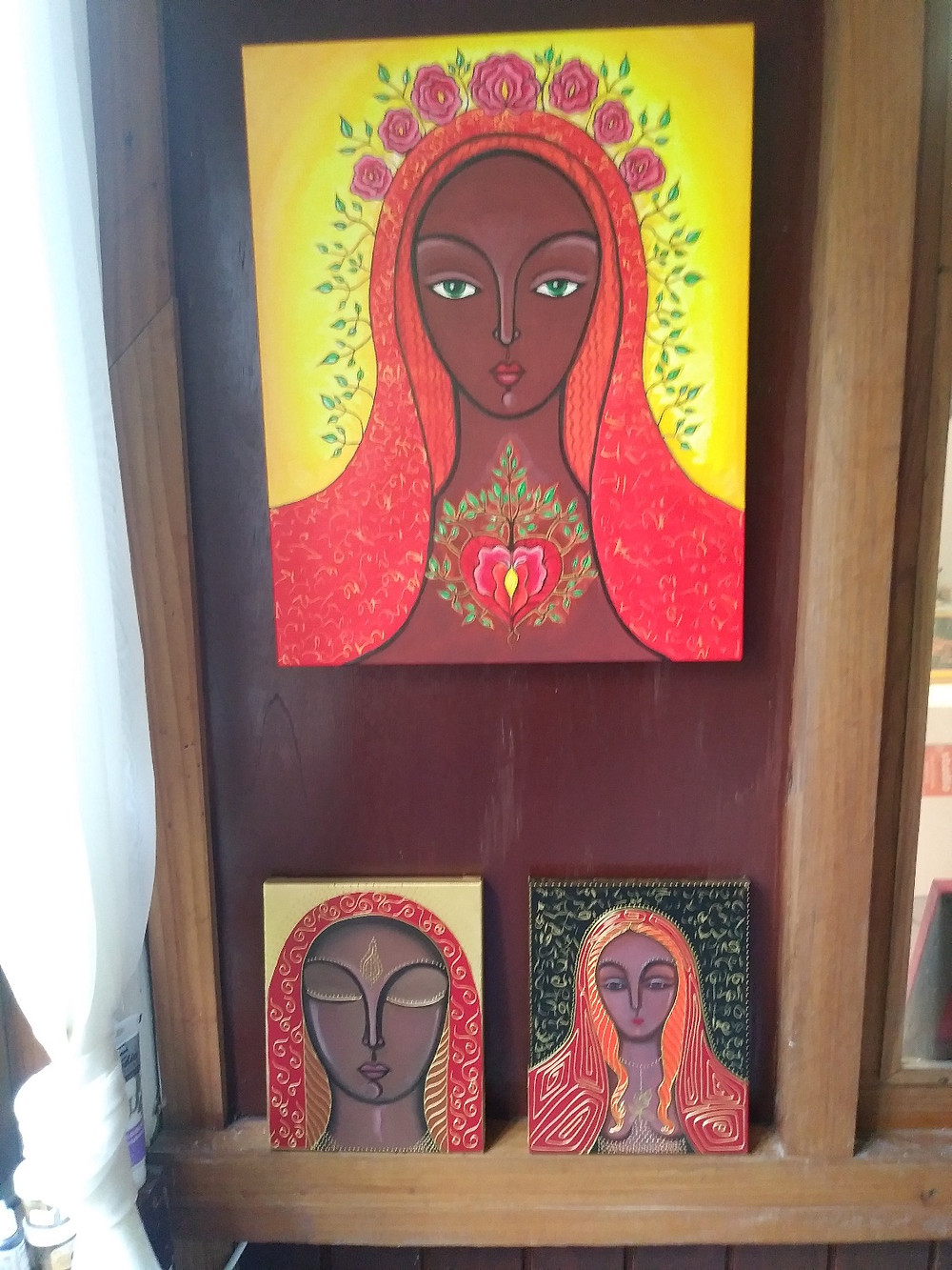 Mary Magdalene paintings by Tanya Torres