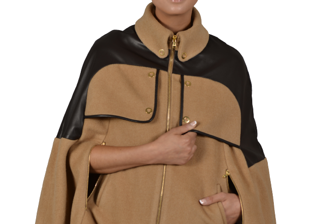 Bella (Leather Trim Cape)