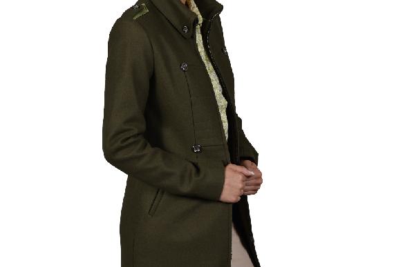 Olivia (Contrast Military Coat)