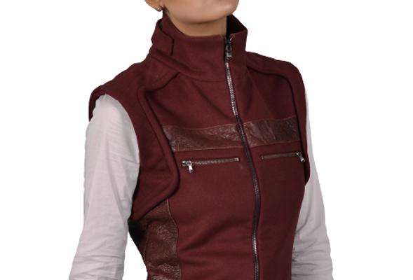 Luna (Leather Trim Vest)