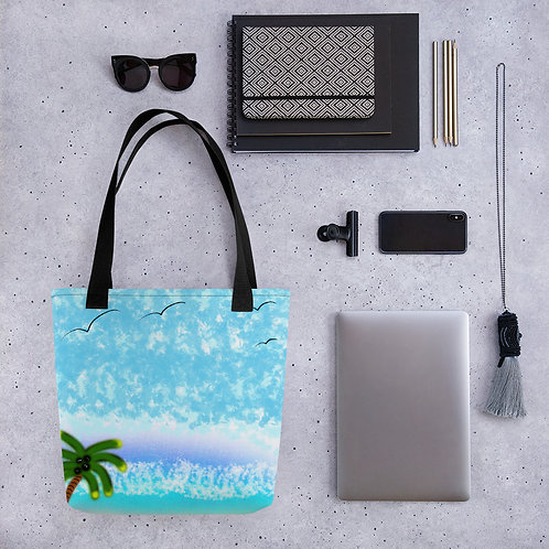 Wheres the Beach Tote bag