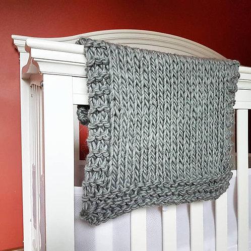 Chunky Merino Wool Baby Blanket