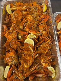 Cajun Garlic Butter Blue Crabs