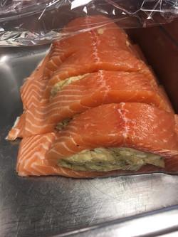 Crab stuffed Salmon