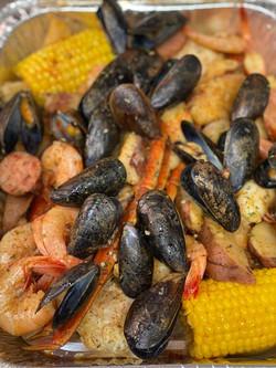 Snow Crab Shrimp Mussel Boil
