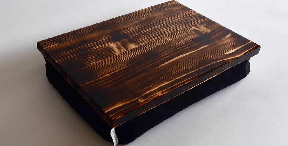 Burned wood Lap desk