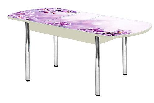 Стол раздвижной Стекло+фотопечать Орхидея