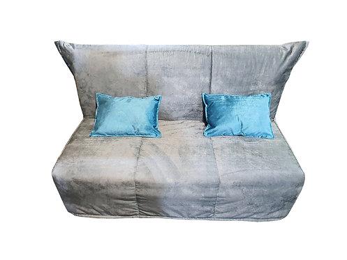 Ингола серая + подушки бирюза