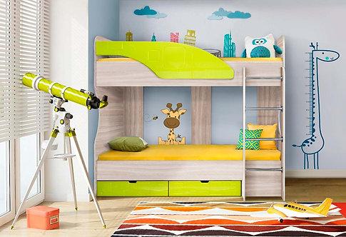 Детская кровать Бриз-5 Лайм