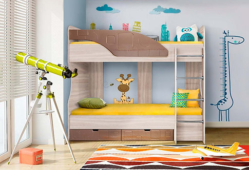 Детская кровать Бриз-5 Шоколад