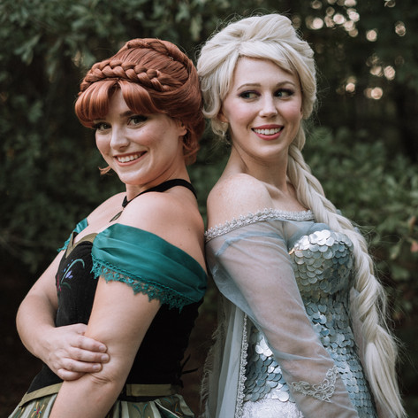 Elsa and Anna Characters
