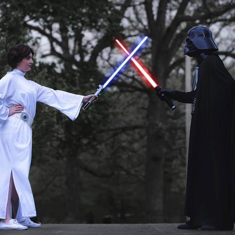Princess Leia and Darth Vader Character Rental