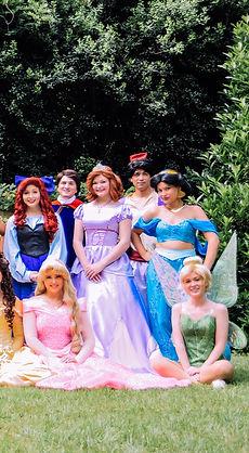 Ariel, Prince Charming, Aladdin, Aurora, Sleeping Beauty, Sofia the First, Jasmine, Tinkerbell Party Character