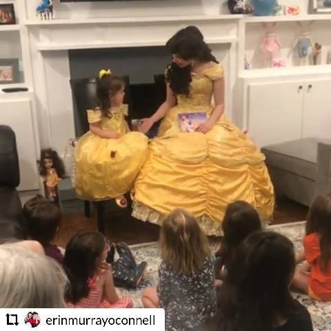 Thank you so much @erinmurrayoconnell for sharing this sweet video! Belle was talking about your sweet party the entire rest of the day! We always appreciate when our clients make us feel welcome and part of the family!   Southernbelleprincessparties