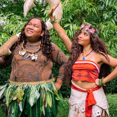 Maui and Moana Cosplay