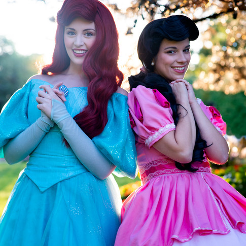 Melody and Ariel Birthday Character