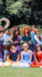 Vanellope, Megara, Hercules, Merida, Snow White, Cinderella, Flynn Rider, Anna, Elsa, Eugine, Elena of Avalor