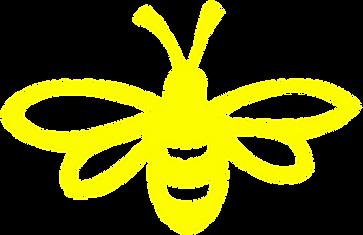 Line Art Bee : Bee clipart