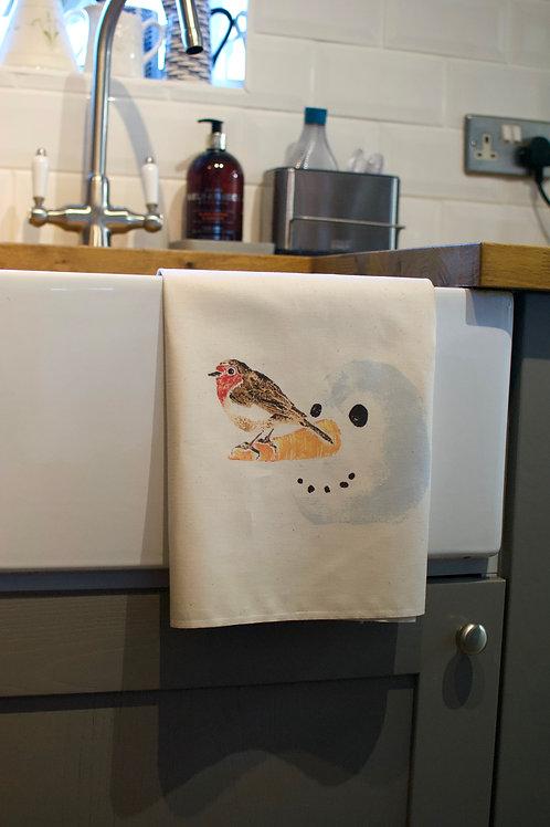 'Wanna build a Snowman?' - Tea towel