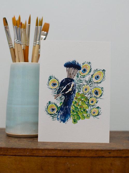 'Fancy' Peacock card