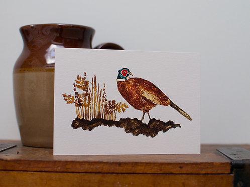 'Beady eyed Pheasant' card
