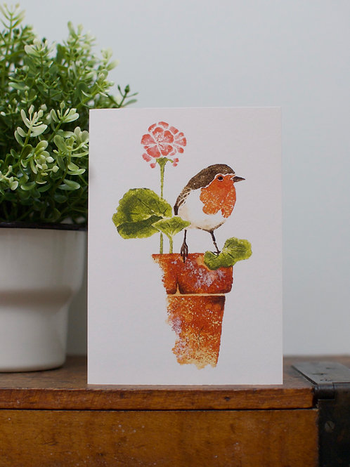 'Old pot rest stop' Robin card