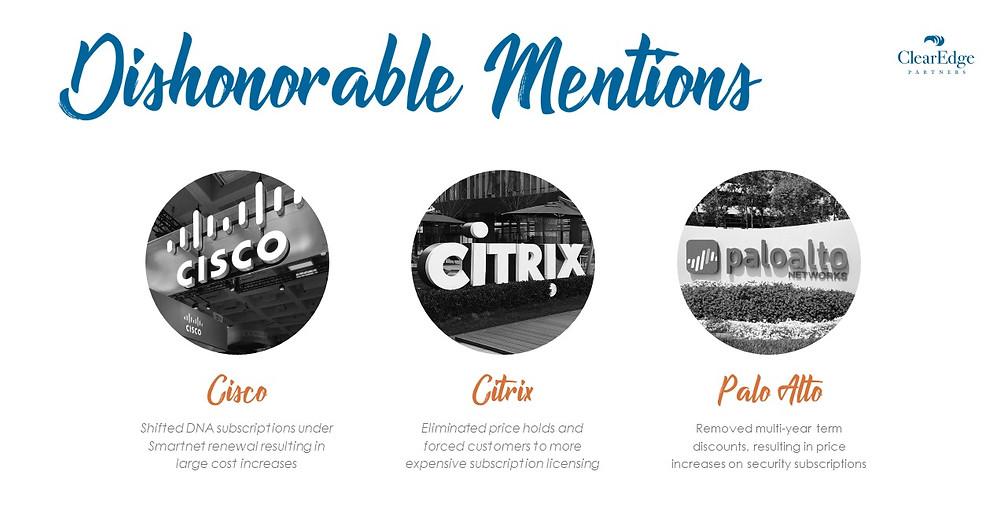 Vendors Difficult to Negotiate With - Cisco, Citrix, Palo Alto