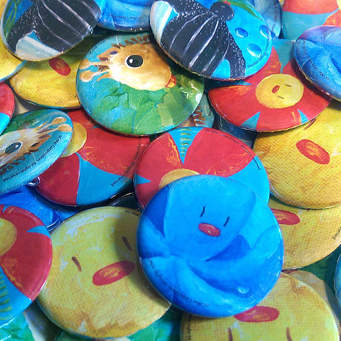 Ñañaritos® Buttons/Botones 5-pack