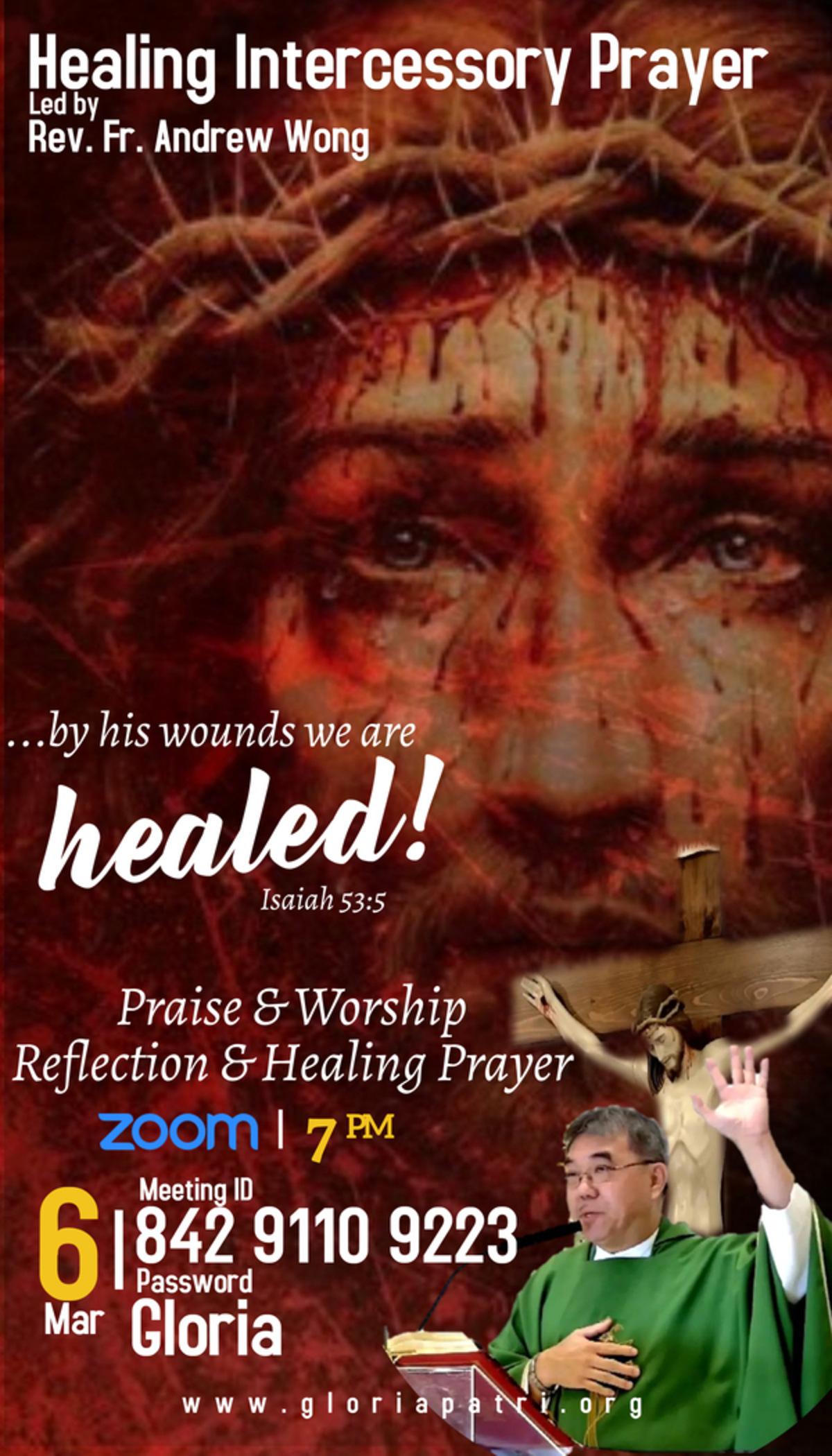 6th Mar Intercessory Healing Prayer