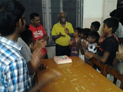 Simple celebration with the children