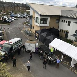 Firm provides tents for coronavirus testing stations across UK