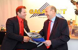 Jason Mace with MP John Healey