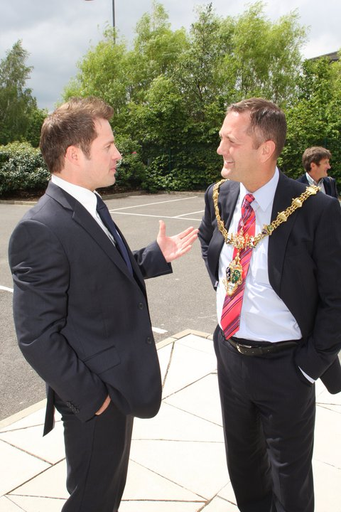 Jason Mace with Mayor of Rotherham