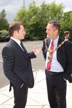 Jason Mace with Mayor of Rotherham