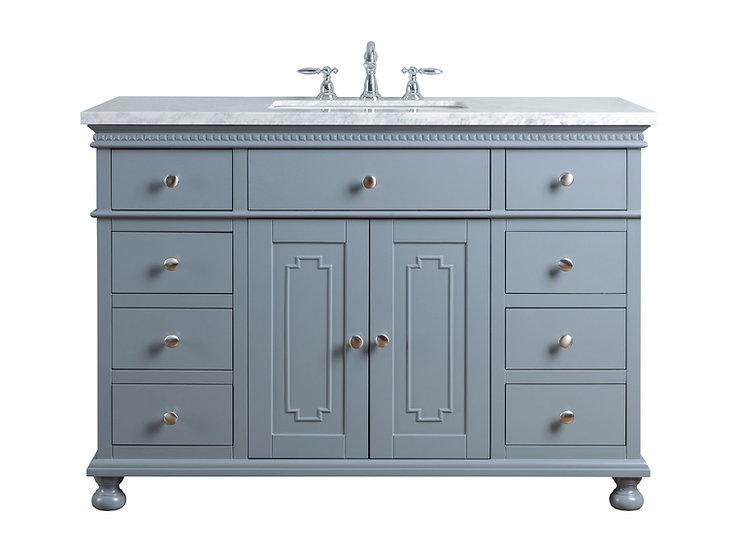 "Abigail Embellished 48"" Grey Single Sink Vanity"